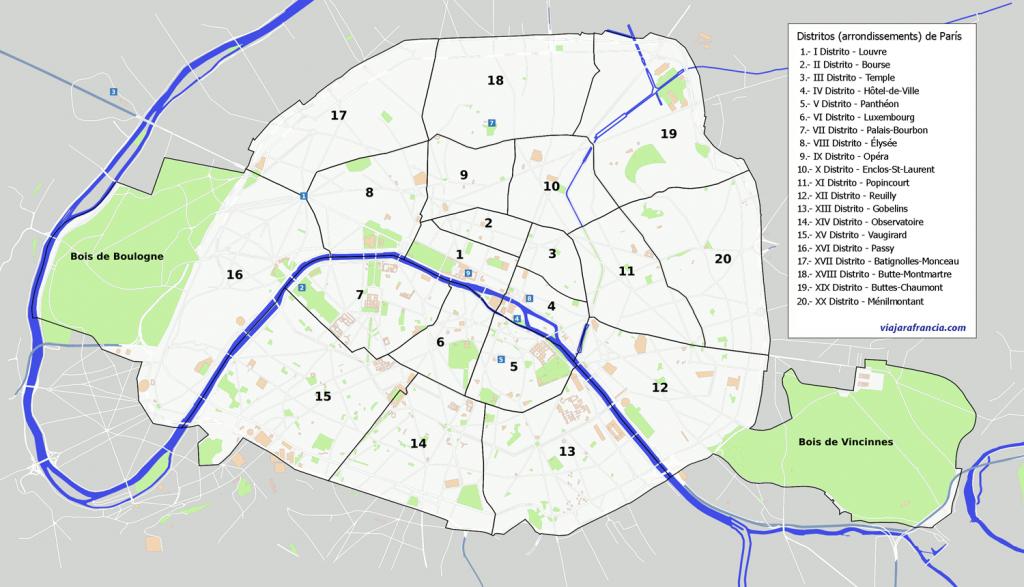 Distritos de París   Viajar a Francia