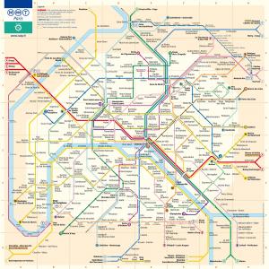 Mapa completo del Transporte en París