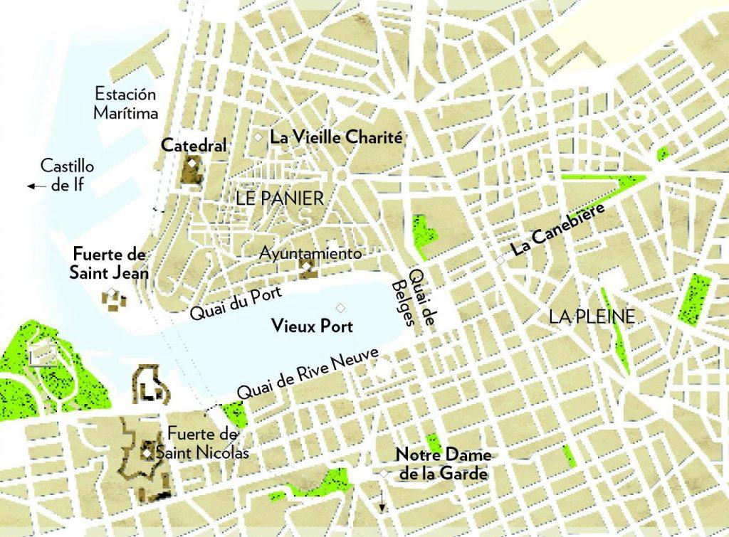 Mapa De Marsella Viajar A Francia