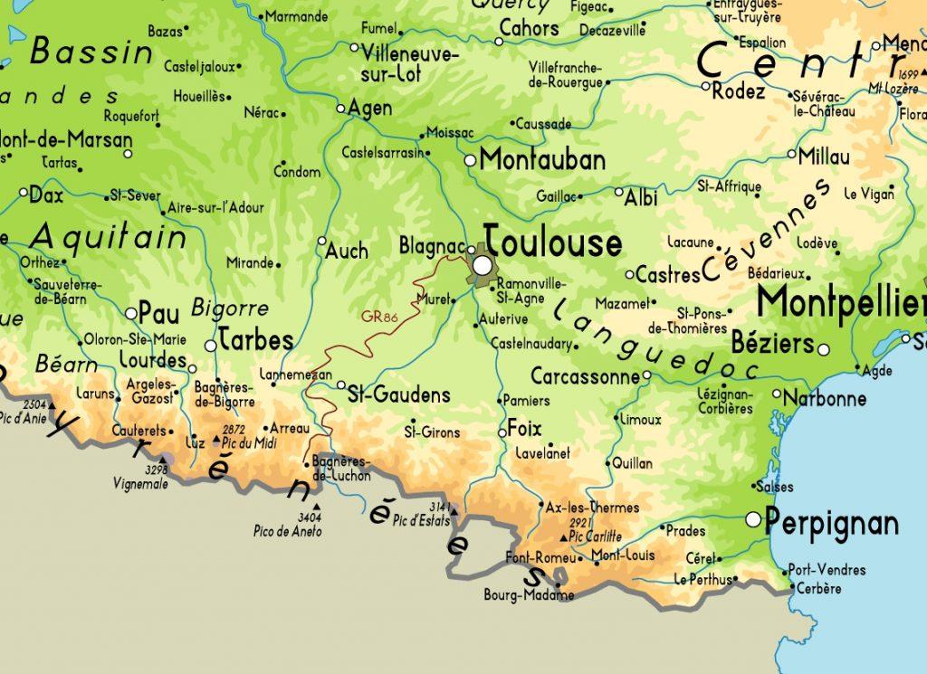 toulouse mapa Mapa de Toulouse   Viajar a Francia toulouse mapa