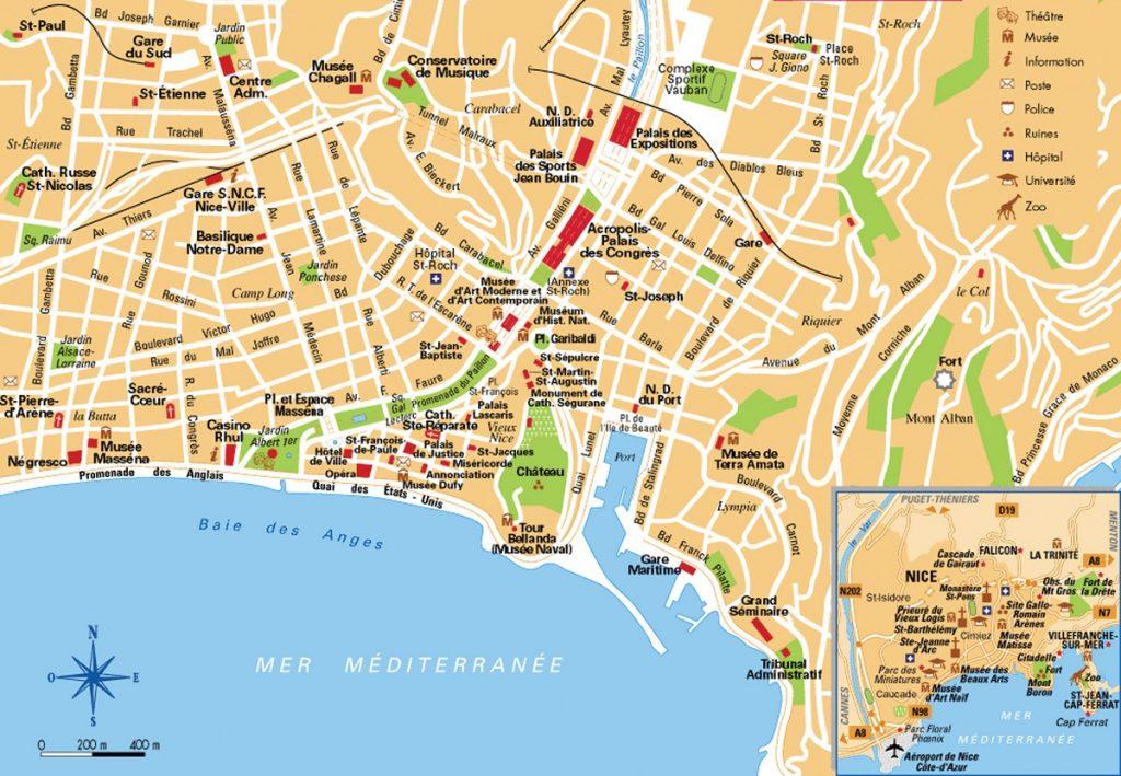 Mapa de niza viajar a francia - Office de tourisme sitges ...
