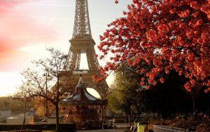 Otoño en la ciudad de París.